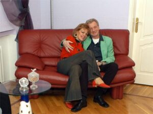 Любовь Казарновская с мужем Робертом