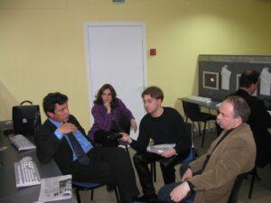 Политик Борис Немцов, журналисты Денис Бессонов, Владимир Лапырин.