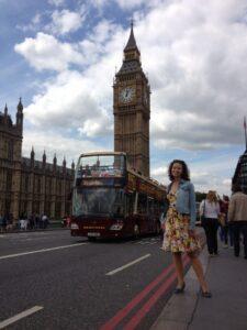 Наталья Русинова. Англия, Лондон.