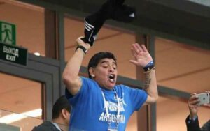 "Диего Марадона. Стадион ""Нижний Новгород"". Матч Аргентина - Хорватия."