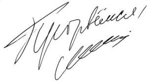 Автограф политика Бориса Немцова