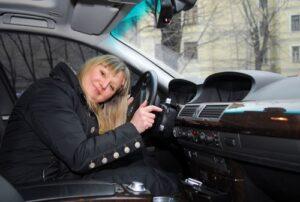 Маргарита Суханкина, автомобиль