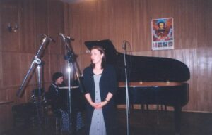 Наталья и Елена Ольховские. Запись диска, 1999 год.