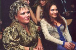 Ольга Пирагс с дочерью