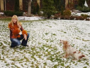 Певица Варвара с собакой