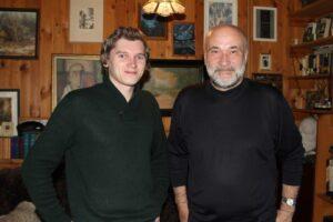 Максим Васюнов и Юрий Казарин. Фото сделано в последний день съёмок 05.10.2015