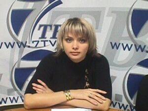 Телеведущая Яна Царегородцева