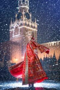Красный наряд, Новый год, пожелание