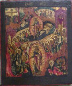 Икона Воскресение Христово с элементами барокко. 18-й в.