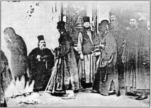 Фотография чуда явления Божией Матери (Афон, 1903 год).